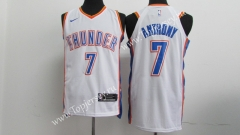 Oklahoma City Thunder White #7 NBA Jersey