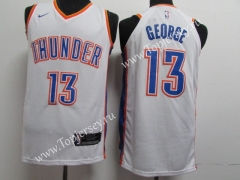 Oklahoma City Thunder White #13 NBA Jersey
