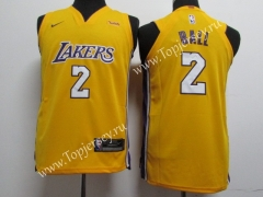Los Angeles Lakers Yellow #2 NBA Jersey