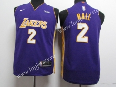Los Angeles Lakers Purple #2 NBA Jersey