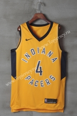 Indiana Pacers Yellow #4 NBA Jersey