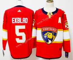 Florida Panthers Red #5 NHL Jersey