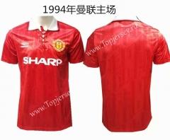 Retro Version 1994 Manchester United Home Red Thailand Soccer Jersey AAA