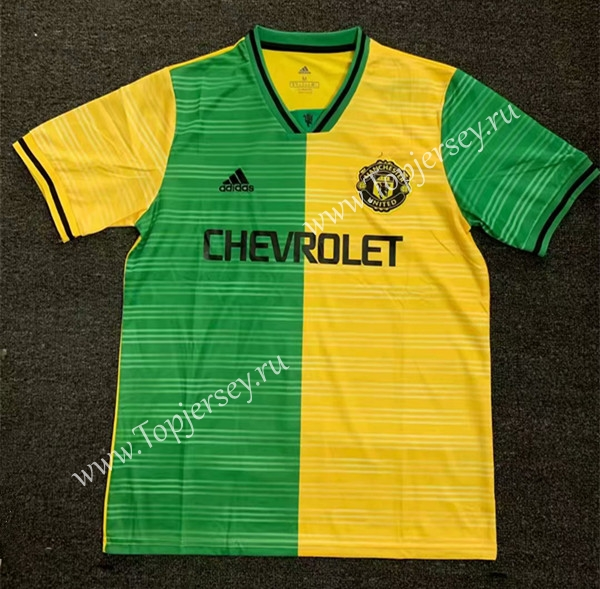 274d9fcd2af Limited Edition 2019-2020 Manchester United Yellow Green Thailand ...