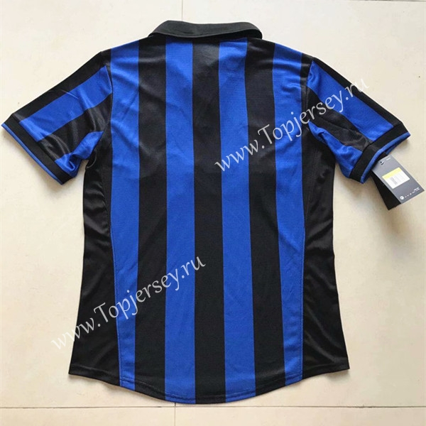 2e7697692 1998 Retro Version Inter Milan Home Blue Black Thailand Soccer ...