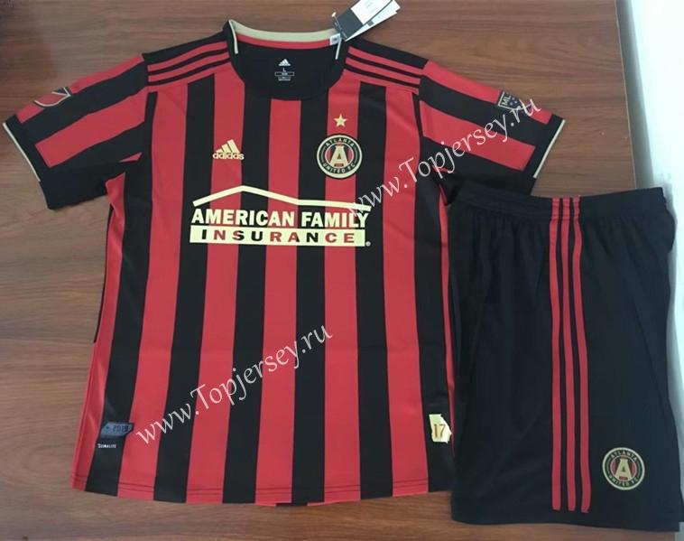 3e22dde0e33 2019-2020 Atlanta United FC Home Red   Black Kids Youth Soccer ...