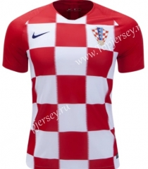 2018 World Cup Croatia Home White & Red Thailand Soccer Jersey-407