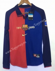 Retro Version 1899-1999 Barcelona Home Red&Blue Thailand LS Soccer Jersey AAA-811