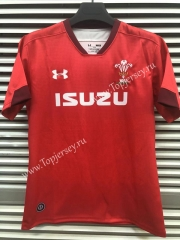 2019-20 Wales Home Red Thailand Rugby Shirt