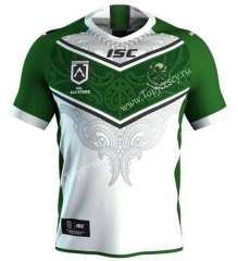 2019-2020 All Stars Maori White&Green Thailand Rugby Shirt
