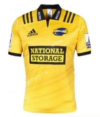 2019-2020 Hurricane Home Yellow Thailand Rugby Shirt