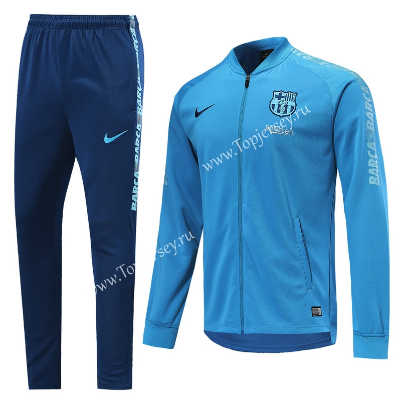 reputable site cd4c2 fc482 2019-2020 Barcelona Sky Blue Thailand Soccer Training Jacket ...