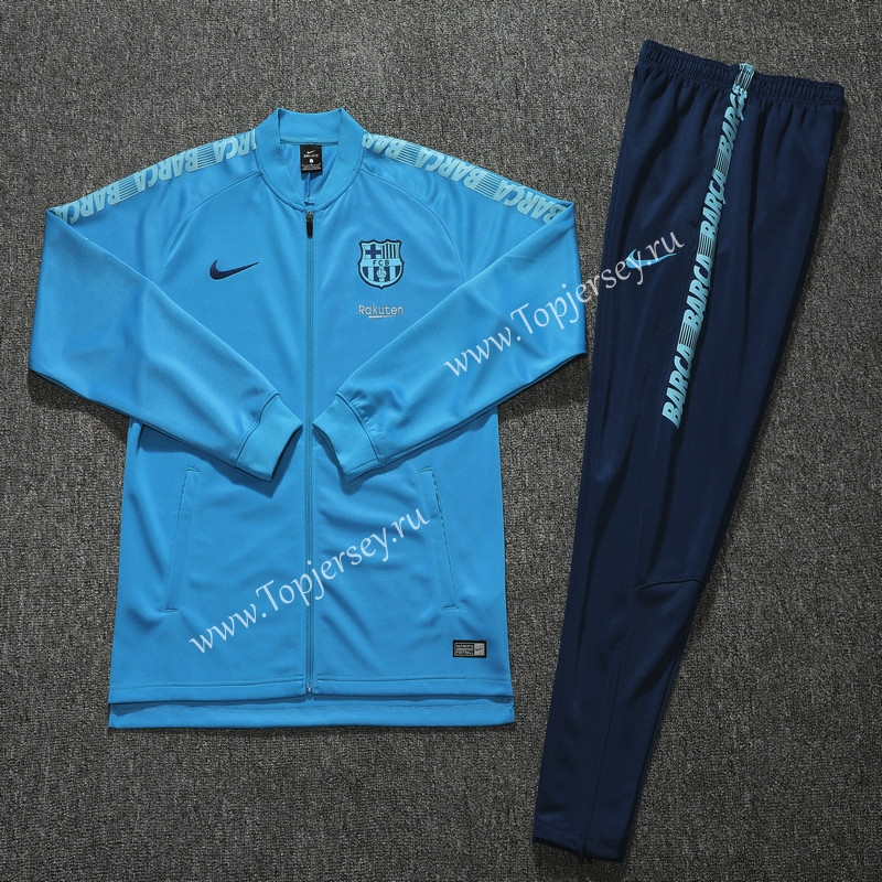 reputable site 0c07a da14b 2019-2020 Barcelona Sky Blue Thailand Soccer Training Jacket ...