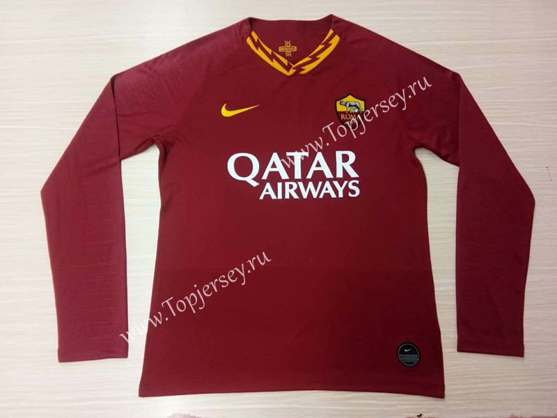 f5fc528e5 2019-2020 AS Roma Home Red Thailand LS Soccer Jersey AAA-Roma