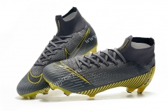 Assassin Gray Mercurial Superfly VI 360 Elite FG Soccer Boots