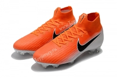 Assassin Orange&White Mercurial Superfly VI 360 Elite CR7 FG Football Boots