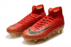 Limited Edition Red Mercurial Superfly VI Elite CR7 SG AC Football Boots