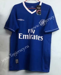 Retro Version 2003-2005 Chelsea Blue Thailand Soccer Jersey AAA-811