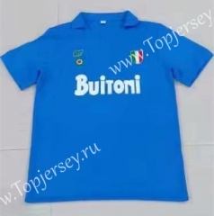 Retro Version Napoli Home Blue Thailand Soccer Jersey AAA-503
