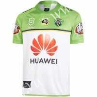 2019-2020 Raiders Away White&Green Thailand Rugby Shirt