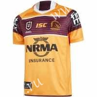 2019-2020 Mustang Away Yellow Thailand Rugby Shirt