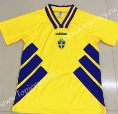 Retro Version 1994 Sweden Home Yellow Thailand Soccer Jersey AAA