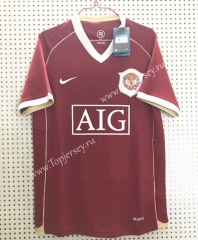 Retro Version 2006 Manchester United Red Thailand Soccer Jersey AAA-811