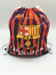 Barcelona Red and Blue Drawstring Bag