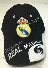 Real Madrid Black Soccer Cap