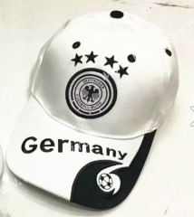 Germany White Soccer Cap