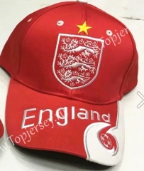 England Red Soccer Cap