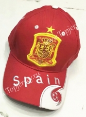 Spain Red Soccer Cap