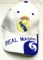 Real Madrid White Soccer Cap