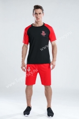 Houston Rockets Red&Black NBA Training Unifrom-CS