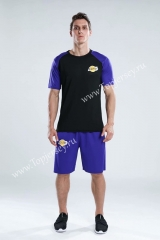 Los Angeles Lakers Black & Purple NBA Training Unofrom-CS