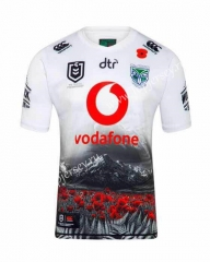 Commemorative Edition 2019-20 New Zealand Warriors White Thailand Rugby Shirt