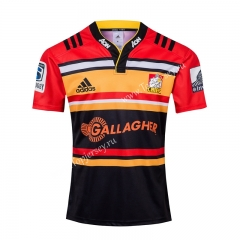 Commemorative Edition 2019-2020 Chiefs Red&Orange&Black Thailand Rugby Jersey
