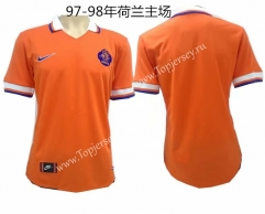 Retro Version 1997-1998 Netherlands Home Orange Thailand Soccer Jersey AAA