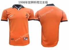 Retro Version 1998 Wold Cup Netherlands Home Orange Thailand Soccer Jersey AAA