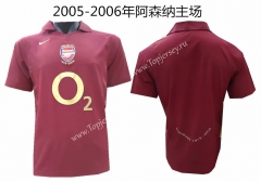 Retro Version 2005-2006 Arsenal Home Red Thailand Soccer Jersey AAA
