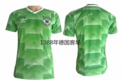 Retro Version 1988 Germany Away Green Thailand Soccer Jersey AAA