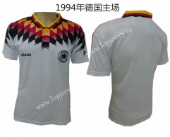 1994 Retro Version Germany Home White Thailand Soccer Jersey AAA