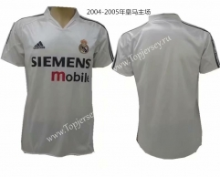Retro Version 2004-2005 Real Madrid Home White Thailand Soccer Jersey AAA