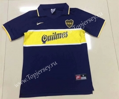 Retro Version 1997 Boca Juniors Home Blue Thailand Soccer Jersey AAA-DG