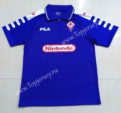 Retro Version 1998- 1999 Fiorentina Blue Thailand Soccer Jersey AAA-503