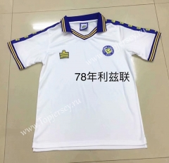 Retro Version 1978 Leeds United White Thailand Soccer Jersey AAA-DG