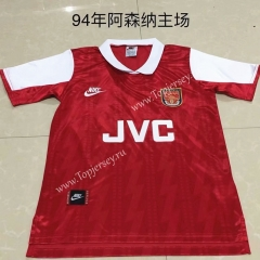 Retro Version 1994 Arsenal Home Red Thailand Soccer Jersey AAA-DG