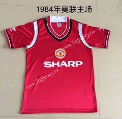 Retro Version 1984 Manchester United Home Red Thailand Soccer Jersey AAA-DG