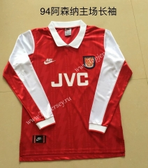 Retro Version 1994 Arsenal Home Red Thailand LS Soccer Jersey AAA