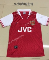 Retro Version 1997 Arsenal Home Red Thailand Soccer Jersey AAA-DG
